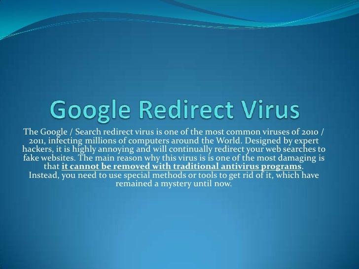 Remove google redirect virus