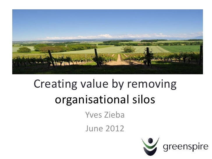 Creating value by removing    organisational silos         Yves Zieba         June 2012