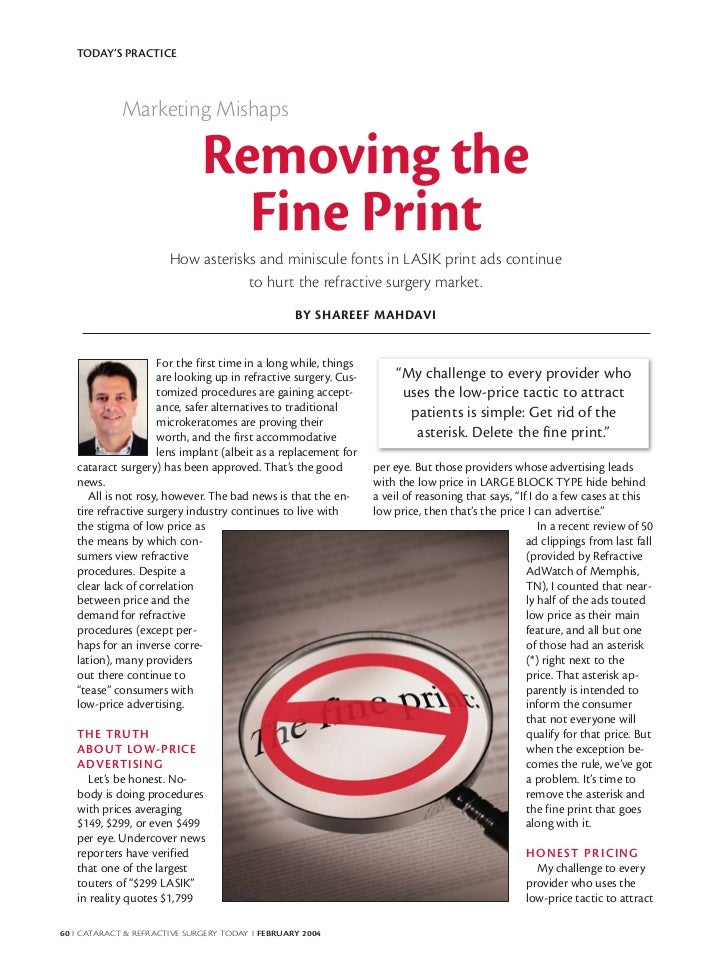 Removing the fine print