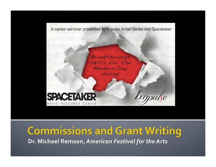 Commissions & Grant Writing