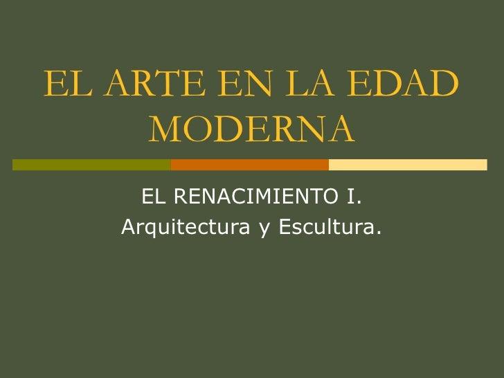 Renacimiento Arquitectura Y Escultura
