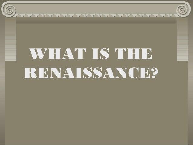 Renaissance introduction