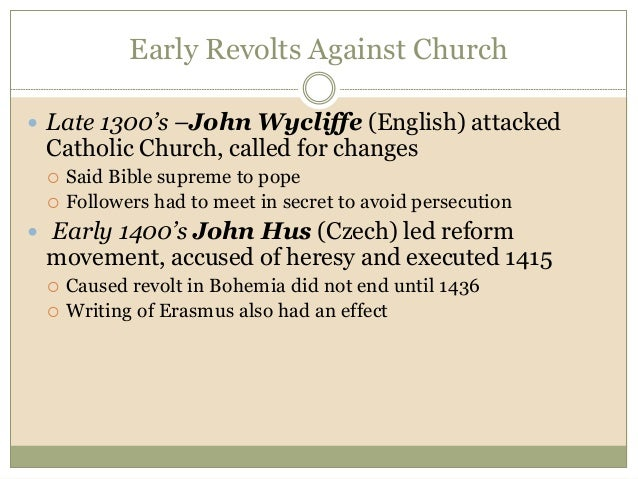 john wycliffe essay View essay - john wycliffe & john huss from chhi 301 at liberty university .
