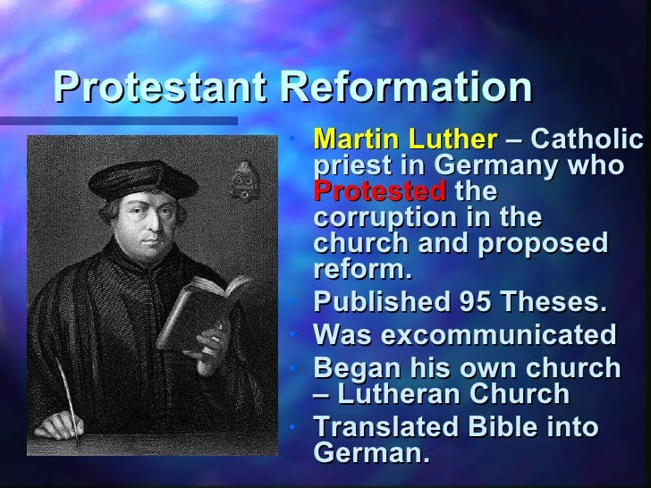 martin luther and the reformation essay Reformation the act of reforming to form again renaissance rebirth or time of the great revival of art, literature, and learning in europe beginning in the 14th century.