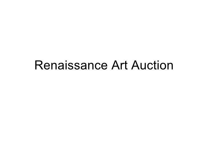 Renaissance art auction 1