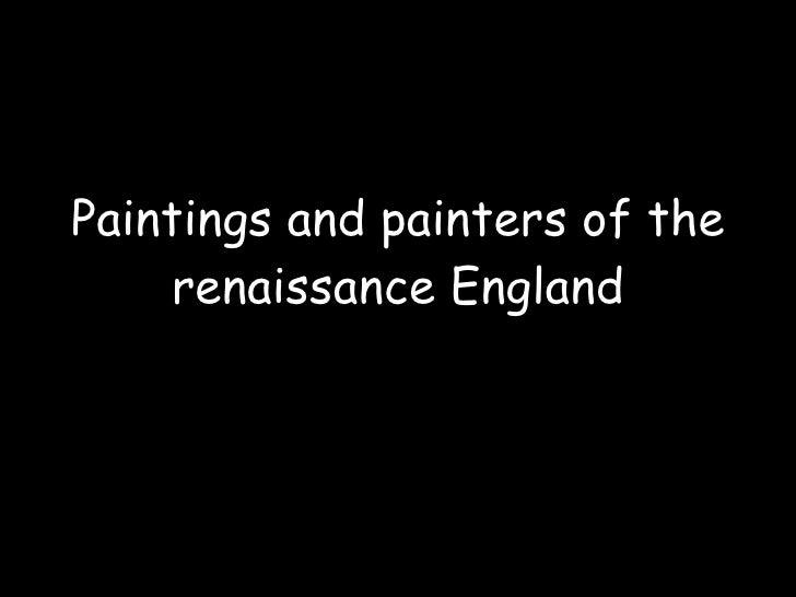 Renaissance England's Painters