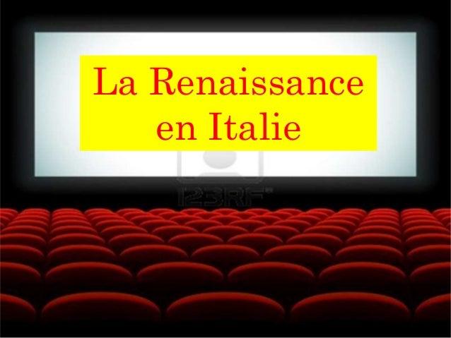 La Renaissance en Italie