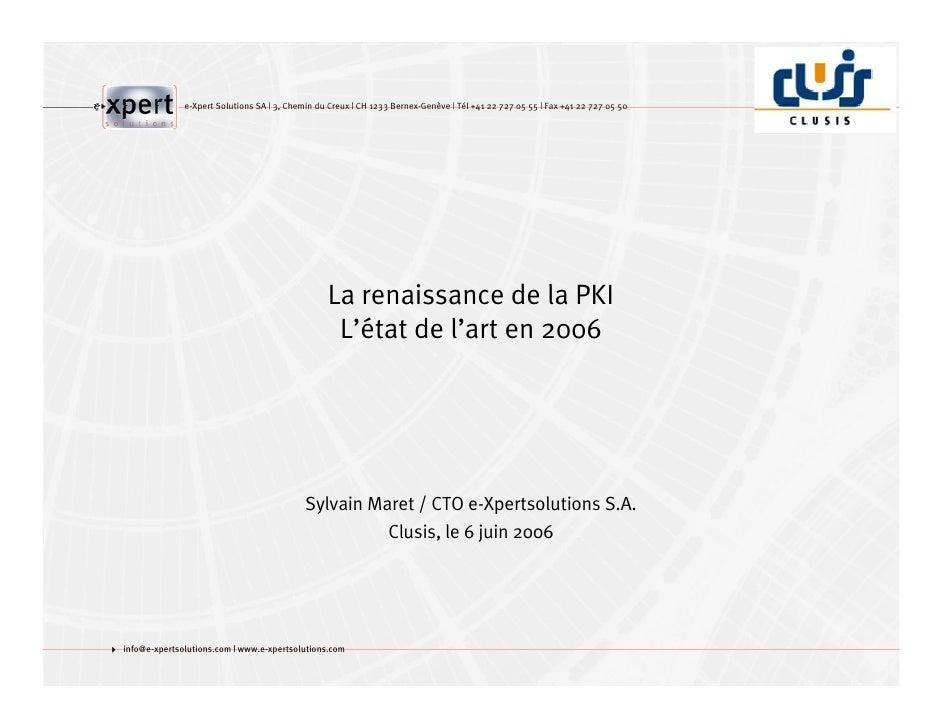 e-Xpert Solutions SA | 3, Chemin du Creux | CH 1233 Bernex-Genève | Tél +41 22 727 05 55 | Fax +41 22 727 05 50           ...