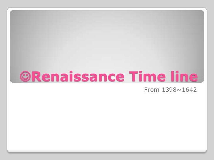 Renaissance time line