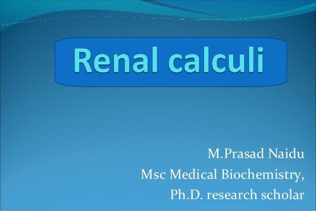 M.Prasad Naidu Msc Medical Biochemistry, Ph.D. research scholar