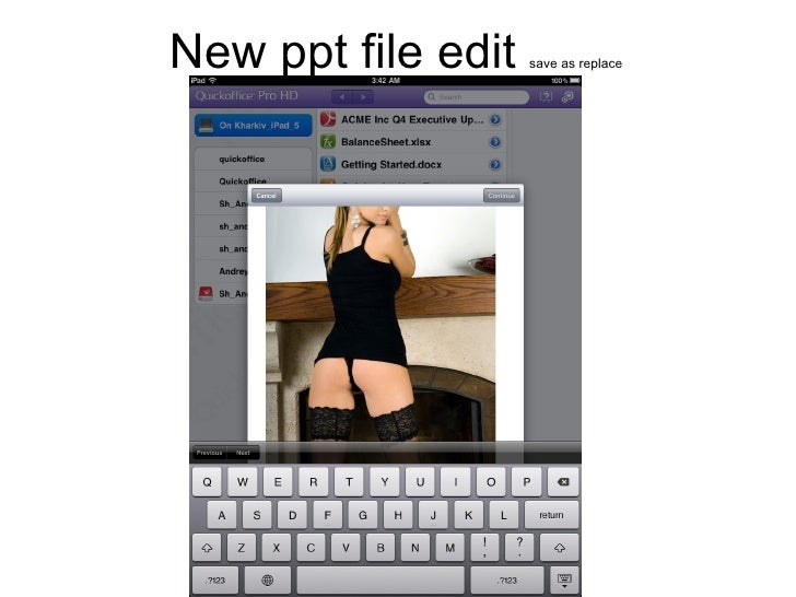 New ppt file edit  save as replace