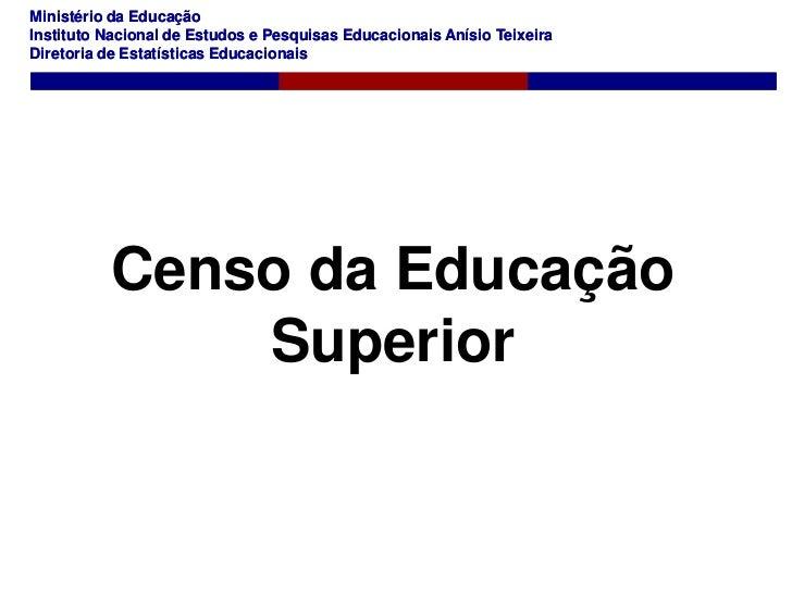 Renan dourado   censo da educação superior