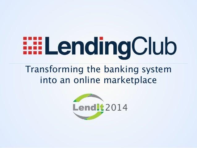Renaud Laplanche LendingClub 2014 Keynote
