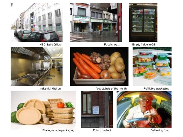 HEC Saint-Gilles  Food shop…  Industrial kitchen  Vegetabels of the month  Biodegradable packaging  Point of collect  Empt...