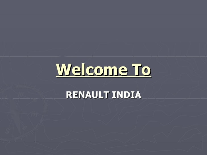 Welcome To RENAULT INDIA