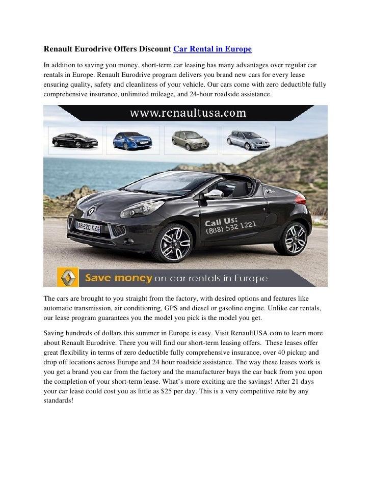Renault eurodrive-offers-discount-car-rental-in-europe