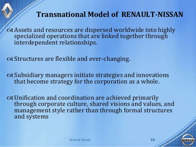 nissan renault case Case study of renault & nissan alliance jean-paul susini the lack of cohesion of the existing studies concerning the per-formance measurement of the strategic alliance suggests further in-vestigation regarding the determinants of alliance performance.