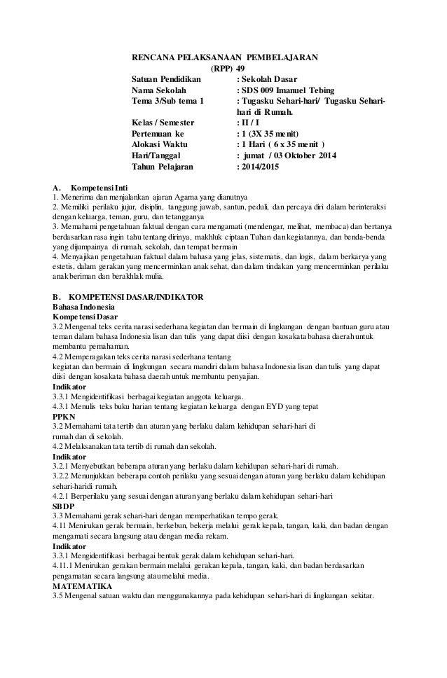 Contoh Soal Kurikulum2013 Sd Kelas 2 | Economics Books