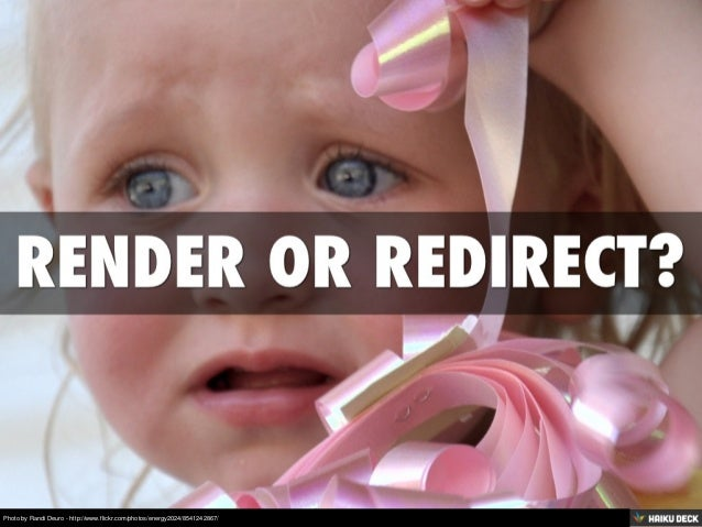 Render Or Redirect?