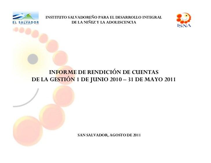 [        ]IntroducciónInstituto Salvadoreño para el Desarrollo Integral de la Niñez y la Adolescencia, ISNA       3