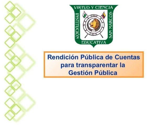 RENDICION DE CUENTAS