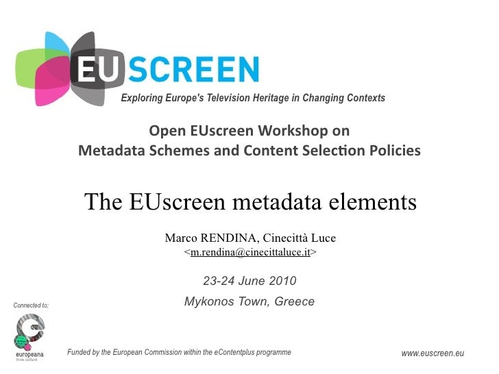Exploring Europe's Television Heritage in Changing Contexts