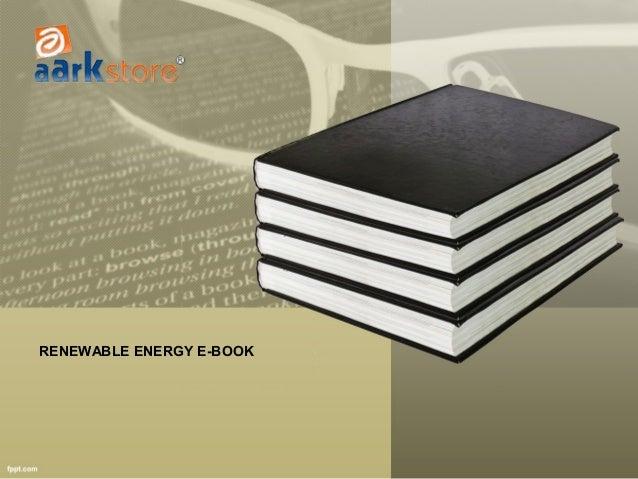 Renewable energy e book