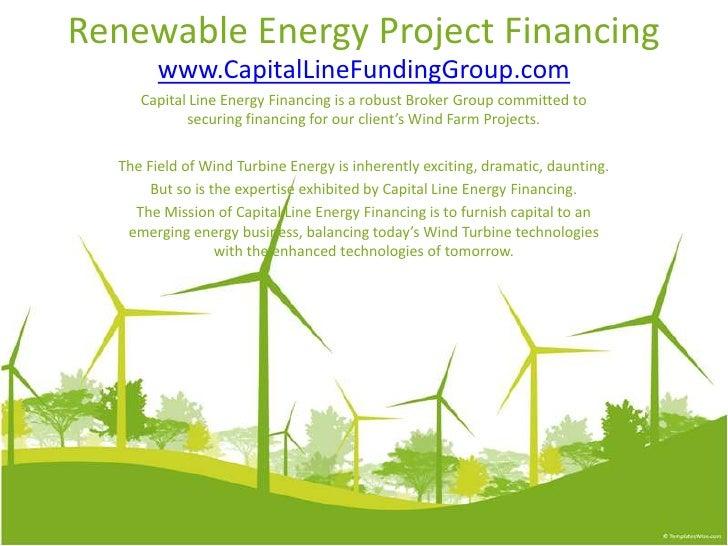 Renewable Energy Project Financing