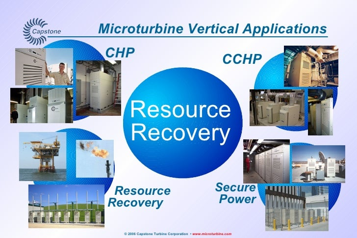 Microturbine Vertical Applications Best Value for Onsite Energy Generation CCHP   CHP Resource Recovery Secure Power Resou...