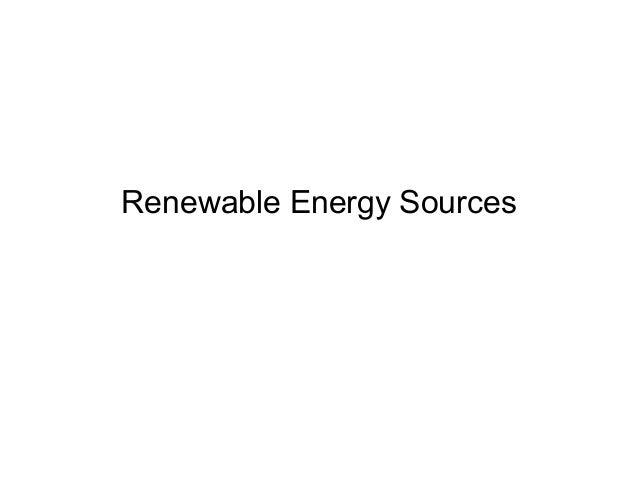 Renewable energy sources (1)