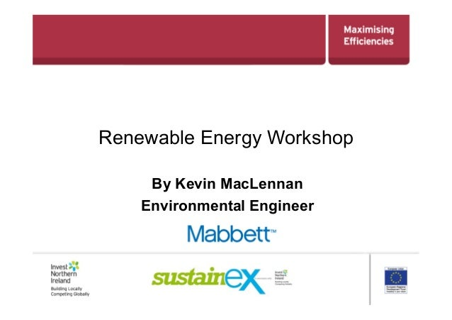 Sustainex 2013 - Renewables New Technology Kevin MacLennan Mabbett (PDF)