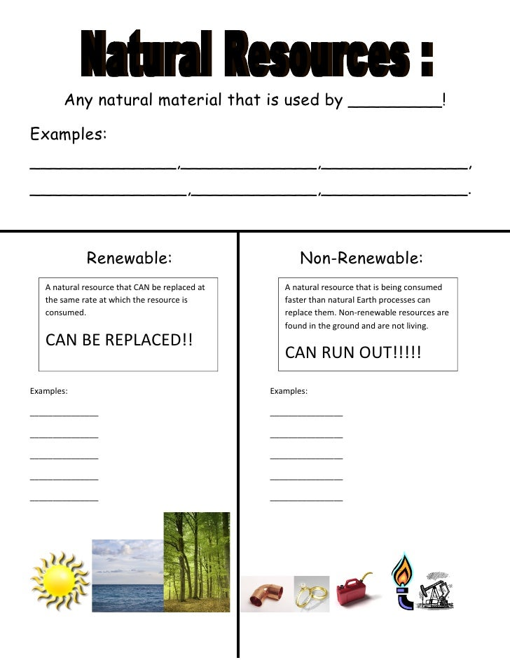 Renewables: Renewable And Nonrenewable Worksheet Answers