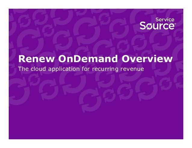 Renew OnDemand Cloud Application