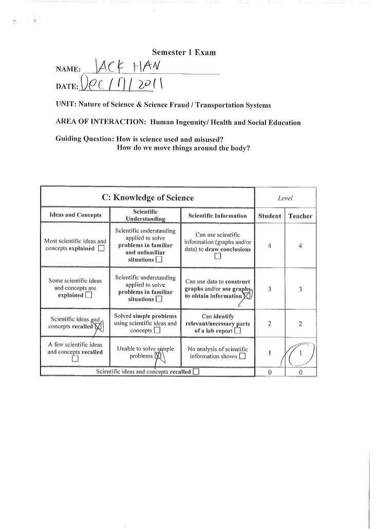My science Test 1