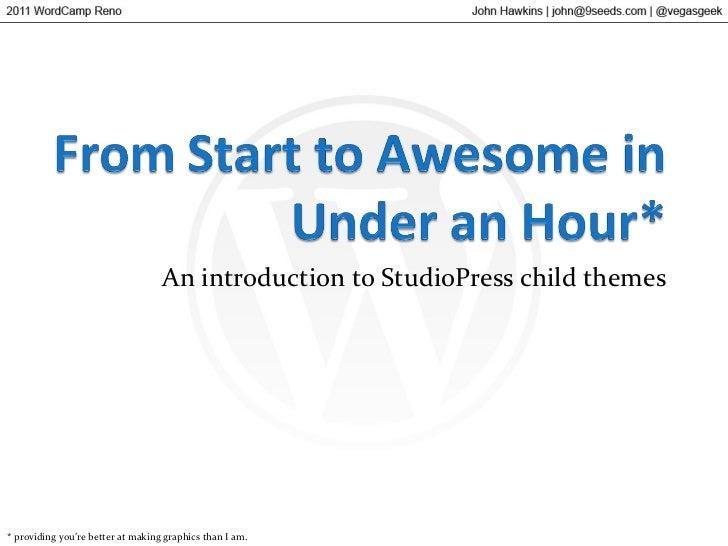WordCamp Reno 2011 - Intro to Genesis Child Themes
