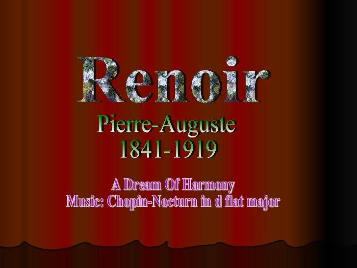 Renoir Pierre-Auguste 1841-1919 A Dream Of Harmony Music: Chopin-Nocturn in d flat major