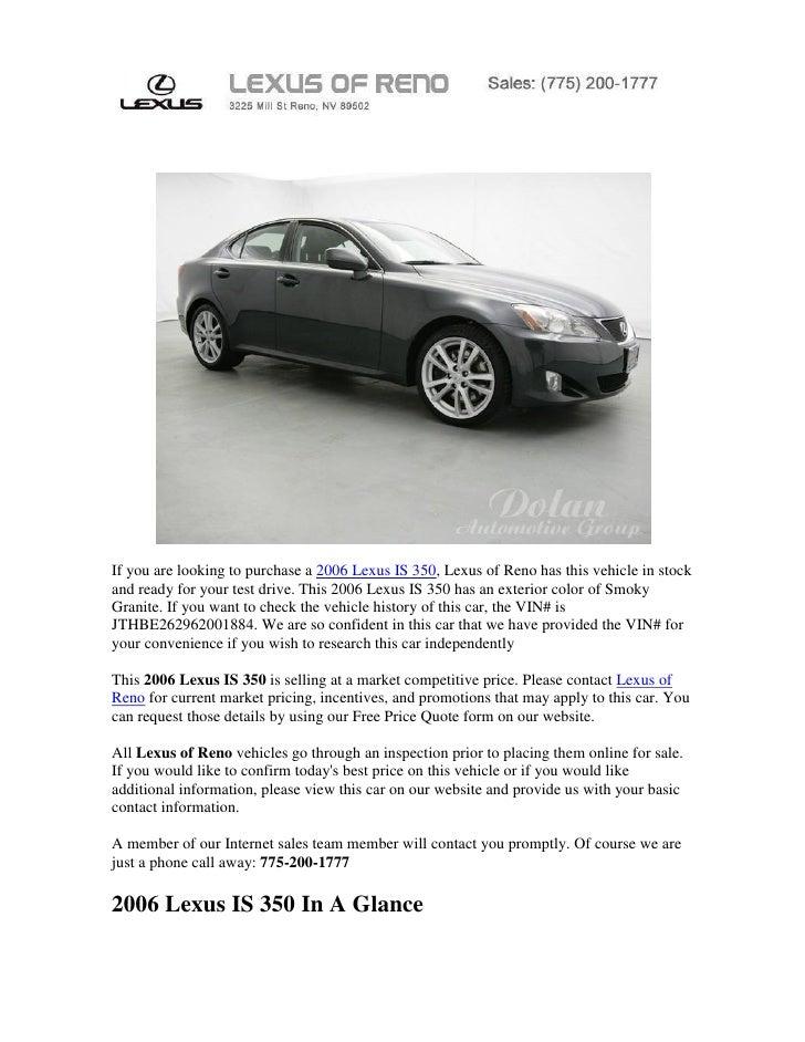 Reno lexus is 350 for sale