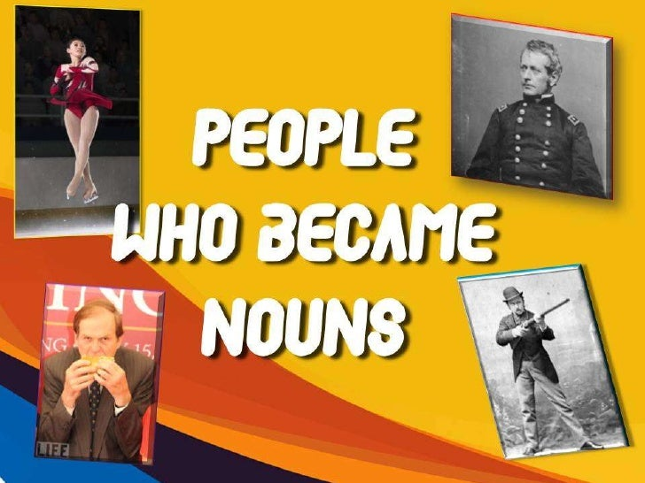 Re-Nouned People!
