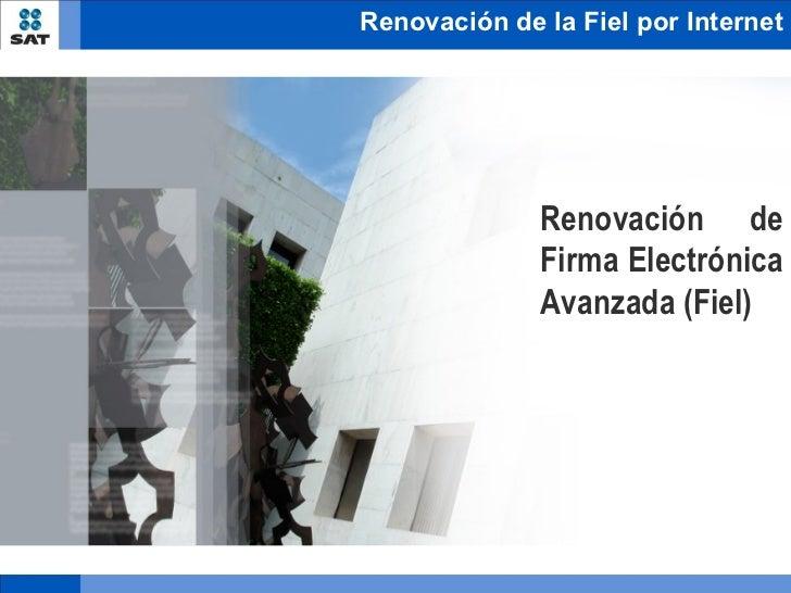 Renovacion fiel