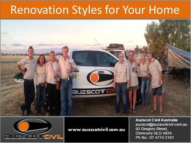 Renovation styles for your homewww auzscotcivil com au