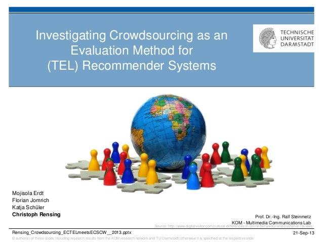 Investigating Crowdsourcing as an Evaluation Method for (TEL) Recommender Systems