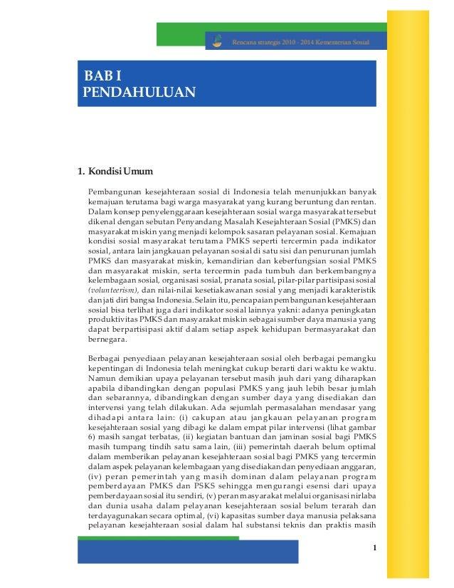 Renstra Kementerian Sosial RI Thn. 2010-2014
