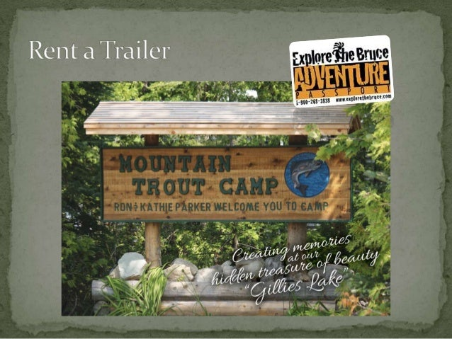 Rent a Trailer on the Northern Bruce Peninsula