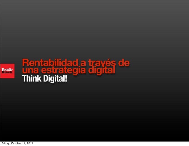 Rentabilidad a través de  una estrategia digital