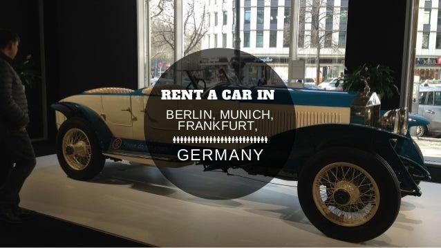 rent a car in berlin munich frankfurt