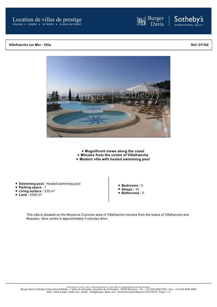 Rental Modern Villa South Of France Close To Villefranche Sur Mer Near Monaco