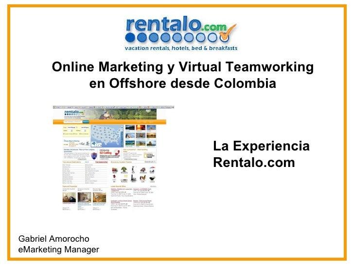 Online Marketing y Virtual Teamworking en Offshore desde Colombia