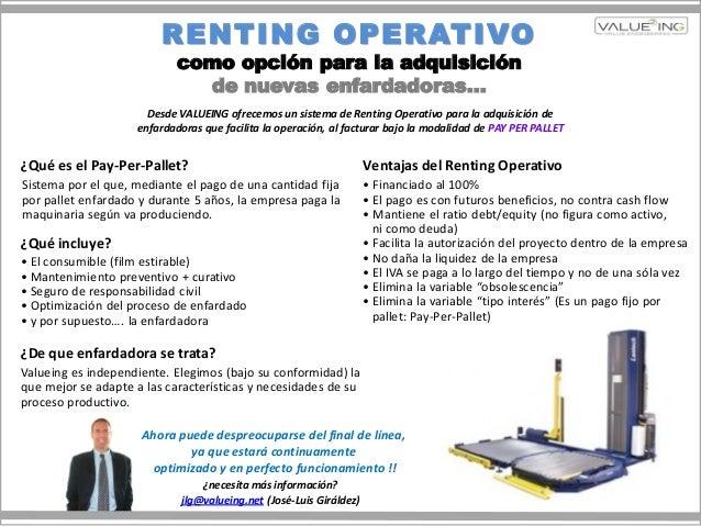 Opción Renting Operativo Enfardadoras (VALUEING)