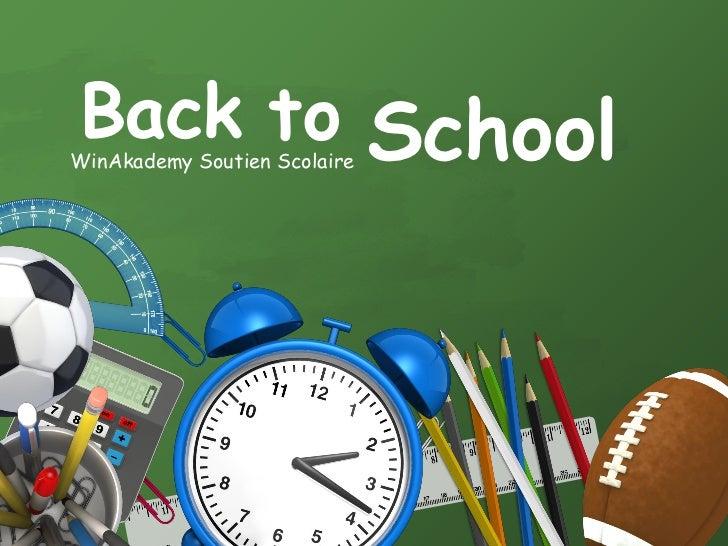 Back to SchoolWinAkademy Soutien Scolaire