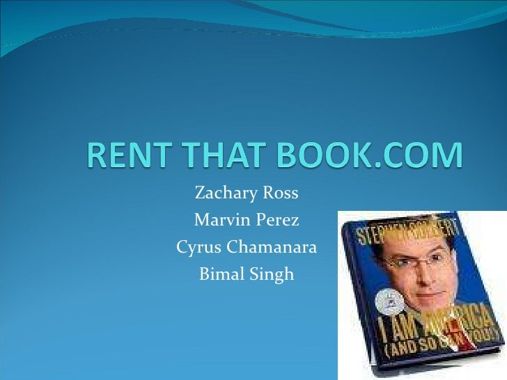 Zack Ross - Rent That Book-Zack Ross ©2010